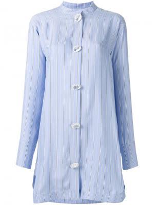 Платье-рубашка с большими пуговицами J.W.Anderson. Цвет: синий