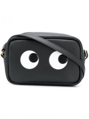 Eyes crossbody bag Anya Hindmarch. Цвет: черный
