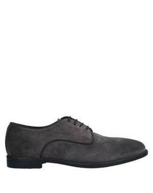 Обувь на шнурках ALEXANDER HOTTO. Цвет: свинцово-серый
