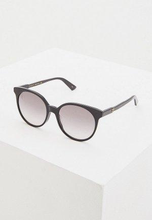 Очки солнцезащитные Gucci GG0488S001. Цвет: черный
