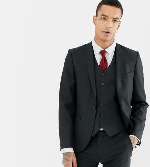 Приталенный пиджак -Черный Heart & Dagger