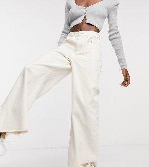 Светло-бежевые широкие джинсы COLLUSION-Белый Collusion