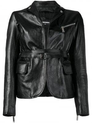 Приталенная байкерская куртка Dsquared2