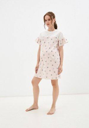 Платье домашнее All Mixes. Цвет: бежевый