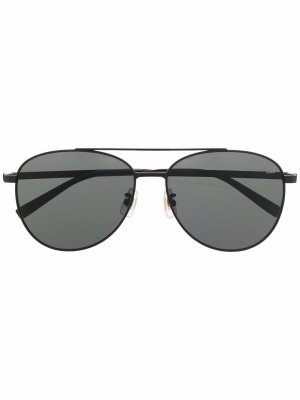 Солнцезащитные очки-авиаторы Dunhill. Цвет: черный