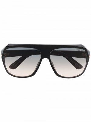 Солнцезащитные очки-авиаторы Hawkings TOM FORD Eyewear. Цвет: черный