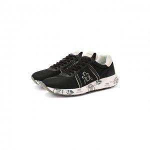 Текстильные кроссовки Mattew-D Premiata. Цвет: чёрный