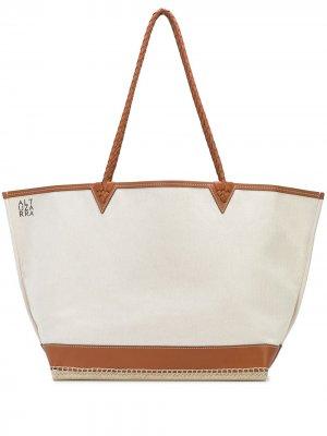 Большая сумка-тоут Espadrille Altuzarra. Цвет: нейтральные цвета