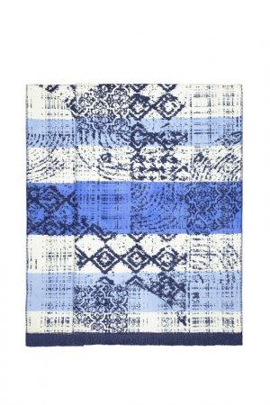 Плед 150x200 Duru Arya home collection. Цвет: синий, белый