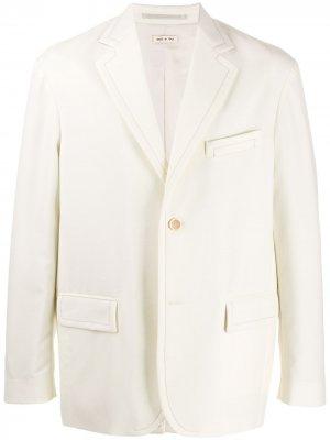 Блейзер с карманами Marni. Цвет: белый