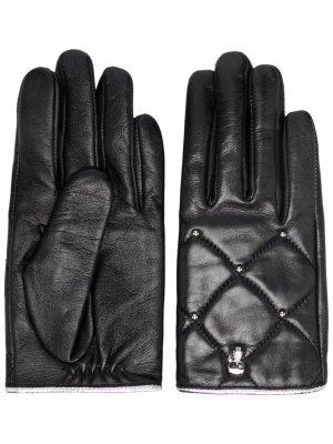 Перчатки K/Ikonik с заклепками Karl Lagerfeld. Цвет: черный