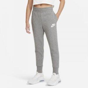 Брюки из ткани френч терри для девочек школьного возраста Nike Sportswear Club - Серый