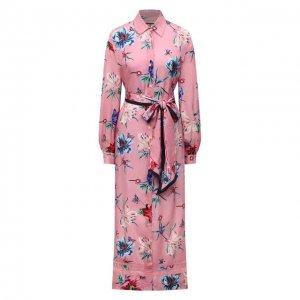 Платье из вискозы Ermanno Firenze. Цвет: розовый