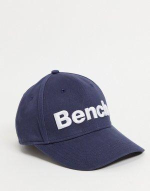 Темно-синяя кепка с большим логотипом -Черный цвет Bench