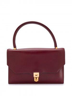 Сумка-тоут 1960-х годов с откидным клапаном Hermès. Цвет: красный