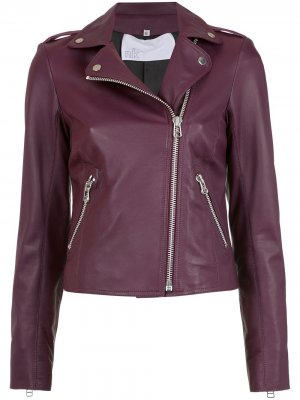 Leather biker jacket Nk. Цвет: розовый