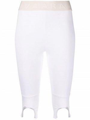 Облегающие шорты Vaara. Цвет: белый