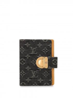 Обложка для блокнота PM с монограммой 2007-го года Louis Vuitton. Цвет: черный