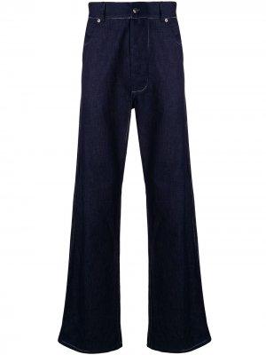 Широкие джинсы с контрастной строчкой Missoni. Цвет: синий