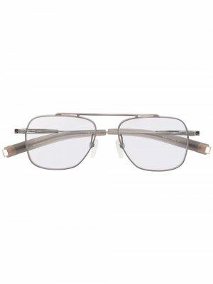 Солнцезащитные очки в квадратной оправе Dita Eyewear. Цвет: серебристый