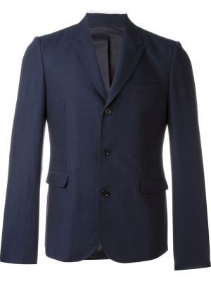 Приталенный пиджак Carven. Цвет: синий