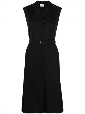 Платье-рубашка миди без рукавов Aspesi. Цвет: черный