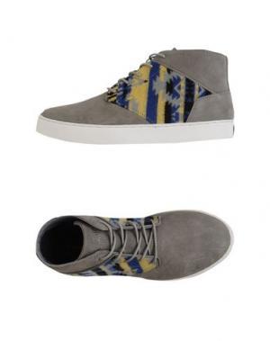 Высокие кеды и кроссовки BOXFRESH. Цвет: серый