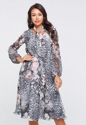 Платье Eva. Цвет: серый