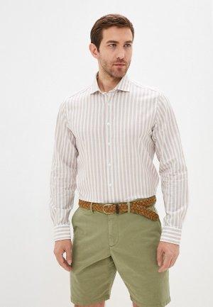 Рубашка Henderson. Цвет: бежевый