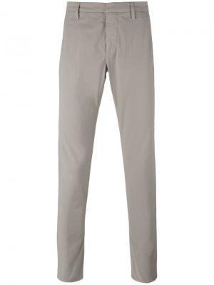 Классические брюки-чинос Dondup. Цвет: бежевый