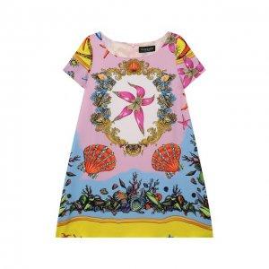 Платье из вискозы Versace. Цвет: разноцветный