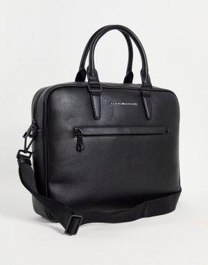 Черная сумка для ноутбука с логотипом Metro-Черный цвет Tommy Hilfiger