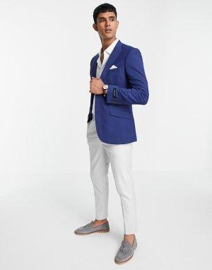 Базовый эластичный пиджак приталенного кроя черного цвета Burton-Черный цвет Burton Menswear