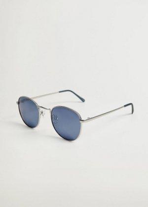 Солнцезащитные очки круглой формы - Mirror Mango. Цвет: серебро
