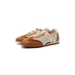Комбинированные кроссовки Ballet Runner Loewe. Цвет: коричневый