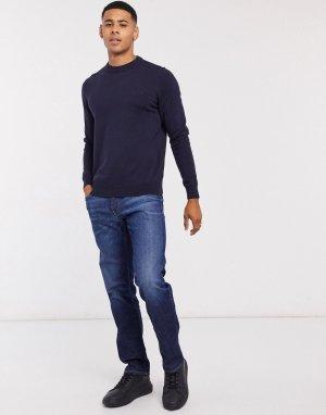 Темно-синие джинсы прямого кроя -Синий Calvin Klein Jeans