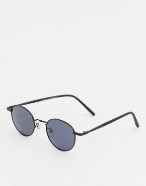 Черные круглые солнцезащитные очки -Черный AJ Morgan