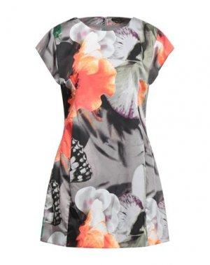 Короткое платье FULL CIRCLE. Цвет: серый