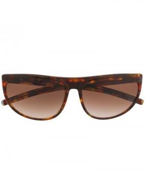 Солнцезащитные очки 1990-х годов в овальной оправе Krizia Pre-Owned. Цвет: коричневый