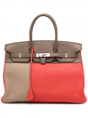 Сумка Birkin pre-owned Hermès. Цвет: коричневый