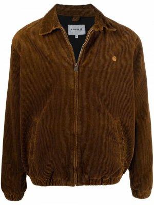 Рубашка с нашивкой-логотипом Carhartt WIP. Цвет: коричневый