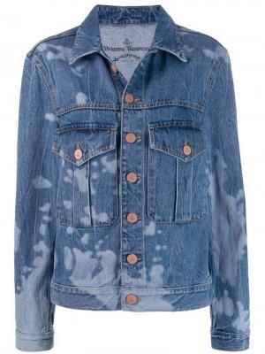 Джинсовая куртка с выбеленным эффектом Vivienne Westwood Anglomania. Цвет: синий