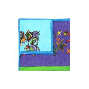 Хлопковое полотенце Versace. Цвет: разноцветный
