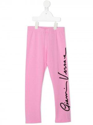 Легинсы GV Signature Versace Kids. Цвет: розовый