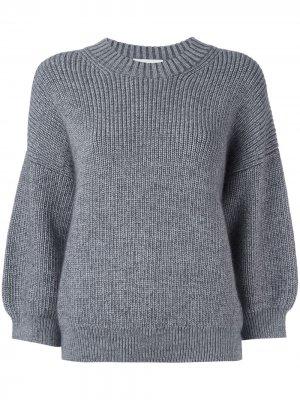 Пуловер с объемными рукавами 3.1 Phillip Lim. Цвет: серый