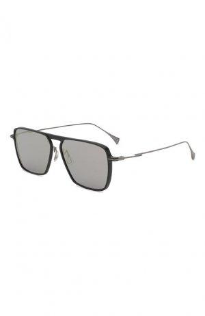 Солнцезащитные очки Yohji Yamamoto. Цвет: серый