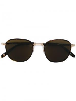 Солнцезащитные очки в круглой оправе Garrett Leight. Цвет: коричневый