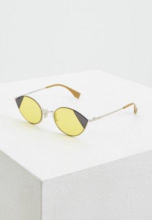 Очки солнцезащитные Fendi FF 0342/S B1Z. Цвет: желтый