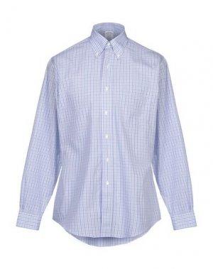 Pубашка BROOKS BROTHERS. Цвет: небесно-голубой
