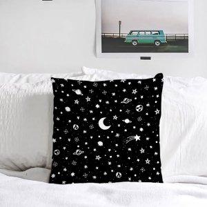 Чёрный Наволочка Декоративные подушки SHEIN. Цвет: чёрный